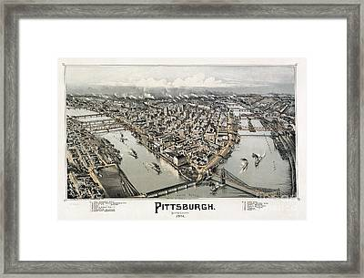 View Of Pittsburgh, 1902 Framed Print by Granger