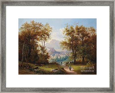 View Of Salzburg Framed Print by Celestial Images