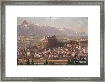 view of Salzburg Framed Print by MotionAge Designs