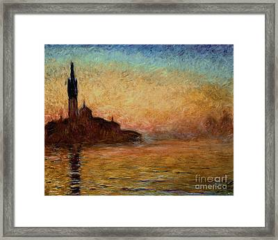 View Of San Giorgio Maggiore Framed Print by Claude Monet