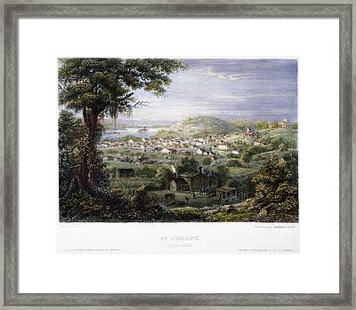 View Of St Joseph, Missouri Framed Print by Granger