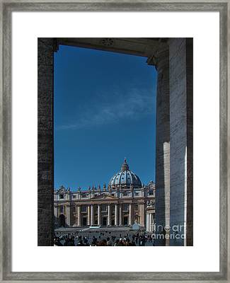 View Of St Peter's Framed Print by Al Bourassa