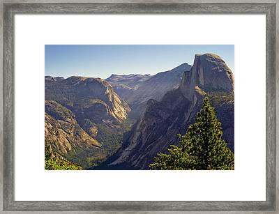 View Of Tenaya Canyon Framed Print by Coyright Roy Prasad