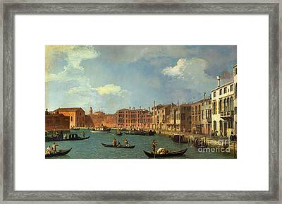 View Of The Canal Of Santa Chiara Framed Print by Canaletto