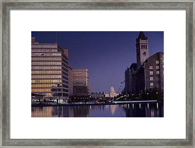 View Of The Capitol Building Framed Print by Kenneth Garrett