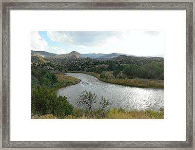 View Of The Chama River Northern New Mexico Framed Print by Jeff Swan