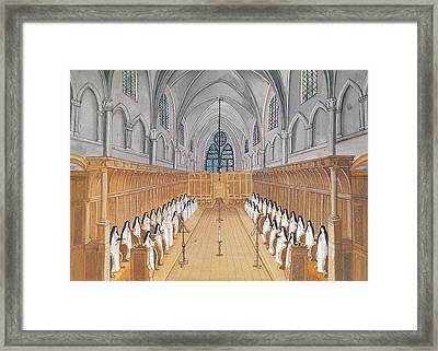 View Of The Choir Framed Print by Louise Madelaine Cochin