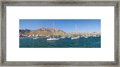 View Of The Marina To Port De Pollenca Framed Print by Panoramic Images