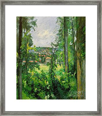 View Of The Outskirts Framed Print by Paul Cezanne