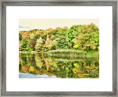View Of The Pond At The Olana State Historic Site 7 Framed Print by Lanjee Chee