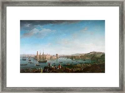 View Of The Port Of Marseilles Framed Print by Celestial Images