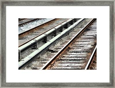 View Of The Railway Track  Framed Print by Lanjee Chee