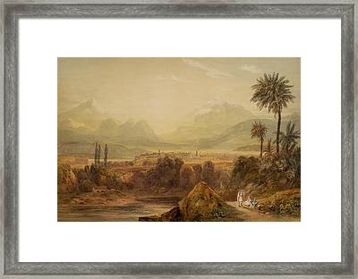 View Of Thebes Framed Print by Hugh William Williams