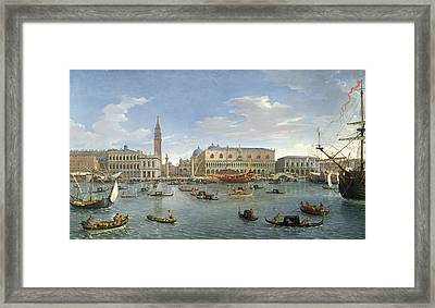 View Of Venice From The Island Of San Giorgio Framed Print by Gaspar van Wittel