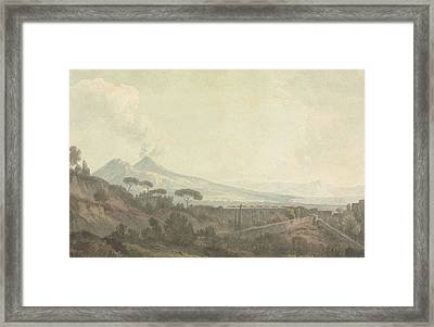 View Of Vesuvius Naples Italy Framed Print by MotionAge Designs