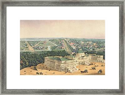 View Of Washington Dc Framed Print by Edward Sachse