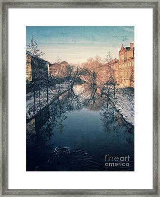 View Onto The River  Framed Print by Mandy Tabatt