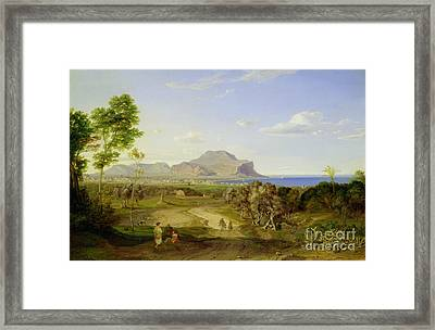 View Over Palermo Framed Print by Carl Rottmann