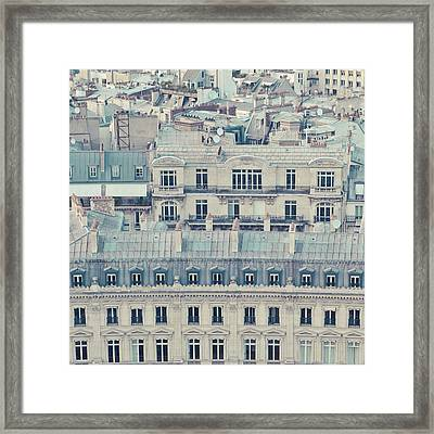 View Over Rooftops Of Paris Framed Print by Cindy Prins