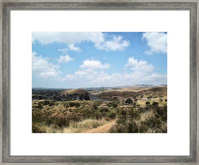 View Over Simi Valley Framed Print by Cindy Nunn