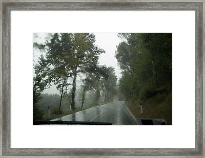 View Through The Window Of A Car Framed Print by Todd Gipstein