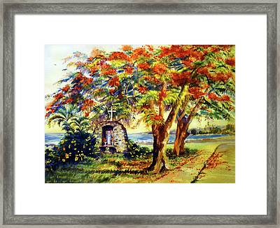 View To Aguadilla Bay Framed Print by Estela Robles