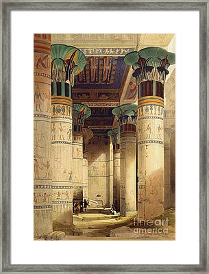 View Under The Grand Portico Framed Print by David Roberts