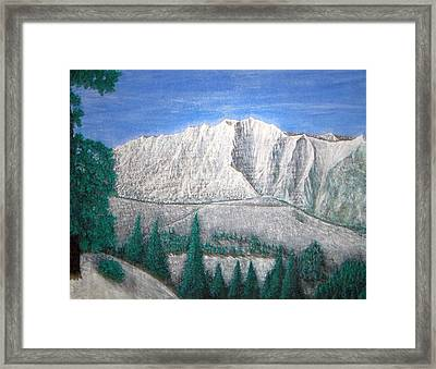 Viewfrom Spruces Framed Print by Michael Cuozzo