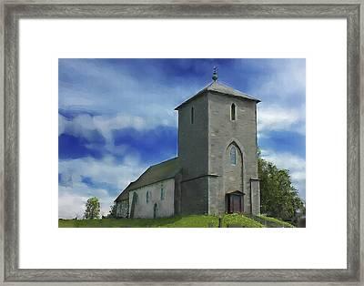 Viking Church St Olavs  Framed Print by Michael Greenaway