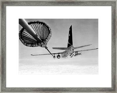 Viking Gas Framed Print by Lyle Brown