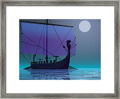 Viking Journey Framed Print by Corey Ford