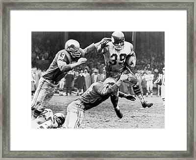 Viking Mcelhanny Gets Tackled Framed Print by Underwood Archives
