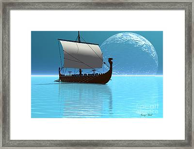 Viking Ship 2 Framed Print by Corey Ford