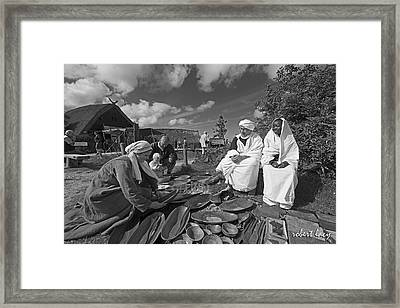 Viking Traders Framed Print by Robert Lacy
