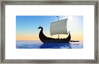 Viking Voyage Framed Print by Corey Ford