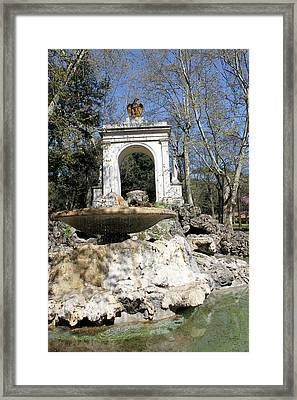 Villa Borghese River Framed Print by Munir Alawi