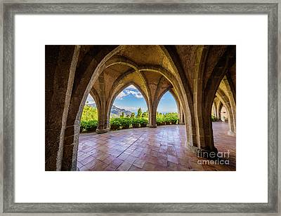 Villa Cimbrone Arches Framed Print by Inge Johnsson