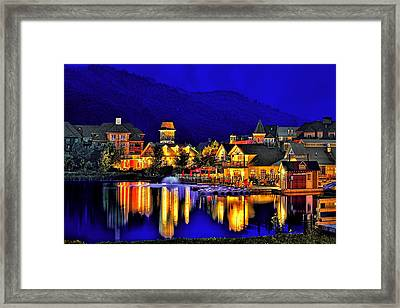 Village At Blue Hour Framed Print by Jeff S PhotoArt