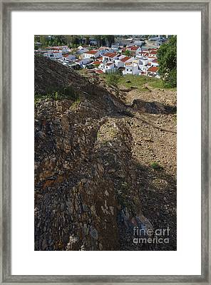 Village Down The Hill Framed Print by Angelo DeVal