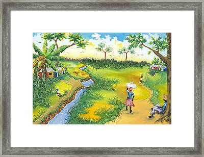 Village Scene Framed Print by Herold Alveras