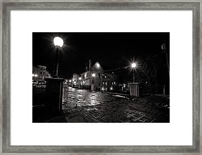 Village Walk Framed Print by CJ Schmit