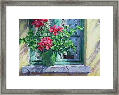 Village Welcome Giverny France Framed Print by L Diane Johnson