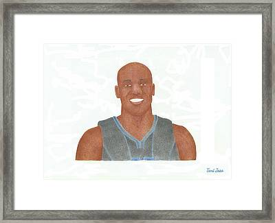 Vince Carter Framed Print by Toni Jaso