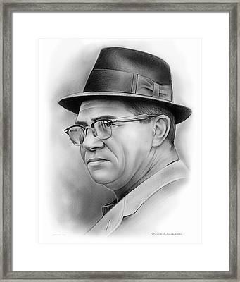 Vince Lombardi Framed Print by Greg Joens