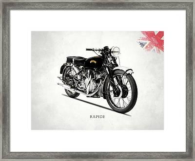 Vincent Hrd Rapide Framed Print by Mark Rogan