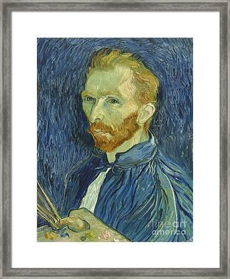 Vincent Van Gogh Self-portrait 1889 Framed Print by Vincent Van Gogh