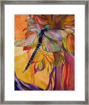 Vineyard Fantasy Framed Print by Karen Dukes