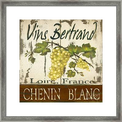 Vineyard Red Wine Sign Framed Print by Grace Pullen