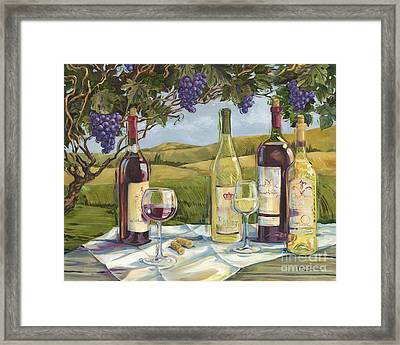 Vineyard Wine Tasting Framed Print by Paul Brent