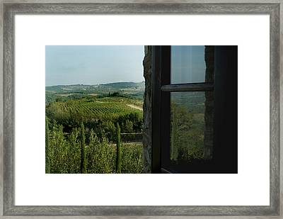 Vineyards Of Chianti Viewed Framed Print by Todd Gipstein